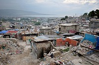 Haiti, Port-au-Prince, Deprived area at Fort National