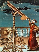 Hevelius observing the night sky, 1647. Johannes Hevelius (January 28, 1611 - January 28, 1687) was a Polish astronomer. He is remembered as the found...