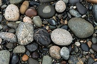 Close-up of pebbles, Deception Pass State Park, Oak Harbor, Washington State, USA