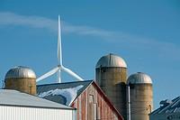Harvest Wind Farm, Pigeon, Michigan, USA. This wind farm generates 53 megawatts of electricity using 32 wind turbines.