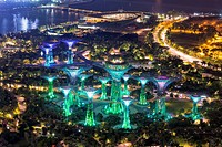 Gardens by the Bay at night, Singapore.