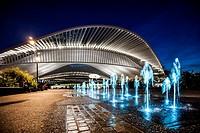 Liège-Guillemins central station, designed by architect Santiago Calatrava, Belgium.
