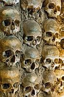Chapel of bones, Capela dos Ossos, 16th century, Convent of San Francisco, Evora, Alentejo, Portugal, Europe.
