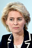 Ursula von der Leyen - 08.10.1958: German politician of the CDU and the Federal Minister of Defence since December 2013 - Caution: For the editorial u...