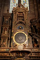 Astronomical clock, Strasbourg Cathedral, Strasbourg, Alsace, France