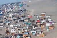 Shanty town in Ancón city.Lima.Perú.