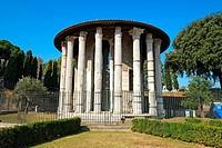 Temple Hercules Victor Rome Italy IT EU Europe.
