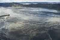Iceland, jokulsa a fjollum glacial branching riverbed