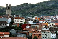 View of Garganta de la Olla town in Caceres province, Spain.