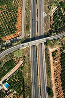 Intersections of roads and highways, Rev 7, Valencia, Spain, Europe