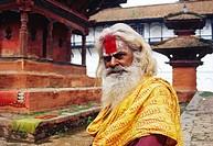 """Hindu ascetic (""""""""sadhu""""""""). Pashupatinath ( Kathmandu, Nepal)."""