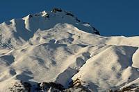 Risetenhorn, mountain, Obersiezsäss, skiing, ski tracks, snow, Weisstannental, Weisstannen, Alps, winter, Canton St. Gall, Switzerland