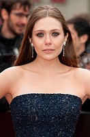 European premiere of 'Godzilla' held at the Odeon Leicester Square - Arrivals Featuring: Elizabeth Olsen Where: London, United Kingdom When: 11 May 20...