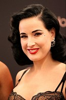 Dita Von Teese launches her new lingerie collection, inspired by the golden age of Hollywood, at Bloomingdale's within Westfield Century City Featurin...