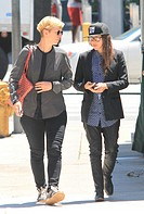 Ellen Page spotted out in West Hollywood with a friend Featuring: Ellen Page,publicist Kelly Bush Where: Los Angeles, California, United States When: ...