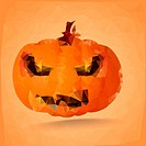 polygonal halloween pumpkin