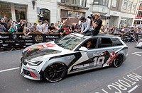The 2014 Gumball 3000 arrives on London's Regent Street. Thousand's of people gathered on a very warm Sunday afternoon to catch a glimpse of the exoti...