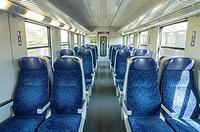 Inside a Cabin of a Regional Express Train. Austria.