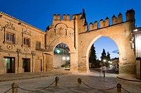 Jaen door and Villalar arch, 16th century, Baeza, Jaen province, Region of Andalusia, Spain, Europe.