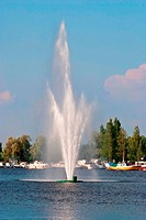 Fountain on the lake.