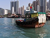 Aberdeen Harbour ABERDEEN HONG KONG Harbour junk dredging for.