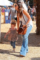 Jessica Alba and Cash Warren take their daughters Honor and Haven to Mr. Bones Pumpkin Patch Featuring: Jessica Alba,Haven Warren Where: Los Angeles, ...