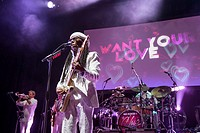 Chic featuring Nile Rodgers performing at the Indigo at The O2 for GoThinkBig - a gig staged by young people Featuring: Nile Rodgers Where: London, Un...