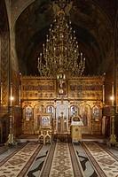 Romania, Transylvania, Sinaia, Sinaia Monastery, mother church, altar.