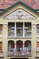 Romania, Banat Region, Timisoara, Piata Victoriei Square, buildings, daytime.