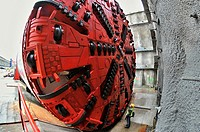 Christening of TMB S-799 tunnel boring machine took place in front of eastern portal of tunnels between Kysice and Dysina, Czech Republic, January 23,...