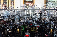 Bicycle parking facility near the main train station in Leiden, South Holland, Netherlands, January 19, 2015. (CTK Photo/Frantisek Gela)