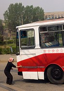 Public Bus In Pyongyang,north Korea