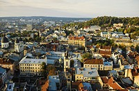view of the old city of Lviv. Ukraine.