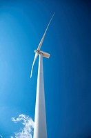 energy wind mills at the country of facinas village in cadiz spain