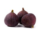 three fresh figs isolated on white background