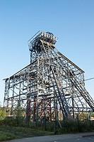Steelconstruction of the headgear coal mine Radbod