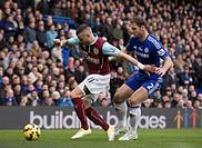 2015 Barclays Premier League Chelsea v Burnley Feb 21st. 21.02.2015. London, England. Barclays Premier League. Chelsea versus Burnley. Burnley's Micha...