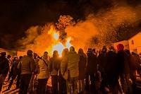 St Antoni fire festival, Cinctorres, Castellon province, Spain.