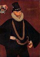 'Sir John Hawkins', 1591. Artist: Hieronimo Custodis