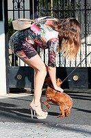 Kelly Brook leaving her apartment and stepping into a limo Featuring: Kelly Brook Where: Los Angeles, California, United States When: 12 Nov 2014 Cred...