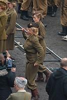 'Dad's Army' filming in Bridlington Featuring: Emily Atack Where: Bridlington, United Kingdom When: 16 Nov 2014 Credit: WENN.com