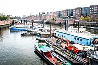 Harbor in Hamburg, Germany.