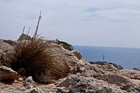 beautiful landscape panorama with mountain and mediterranean sea