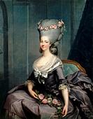Portrait of Marie Louise of Savoy (1749-1792), Princess of Lamballe. Artist: Callet, Antoine-François (1741?1823)