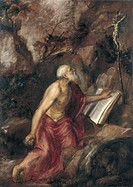 The penitent Saint Jerome. Artist: Titian (1488-1576)