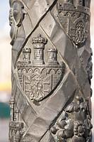 Detail on Lamppost, Krakow, Poland, Europe.