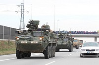 The U.S. military convoys, returning from the Baltic countries to a German base, entered the territory of the Czech Republic, on Sunday, March 29, in ...