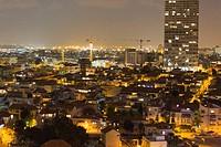 Tel Avivs ältester Stadtteil Neve Tsedek bei Nacht, Foto: Robert B. Fishman, ecomedia, 21.2.2014