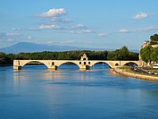 Pont St. Benezet, pope palace, city view of Avignon, Provence, France, France, Provence, Avignon - Avignon, Provence, France, 01/01/2014