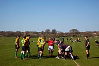Rugby Teams playing on Victoria Park playing fields.